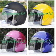 Free shipping New brand fashion half face motorcycle motorbike anti-UV summer women men unisex helmet  5 color h-0123