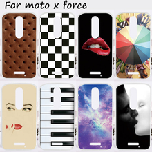 Mobile Phone Cases For Motorola Moto X Force Cover XT1585 XT1581 Motorola Droid Turbo 2 XT1580 Soft TPU Skin Girl Lips Housing