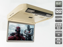 "13.3 "" Flip down (roof mount) DVD monitor (HDMI, USB) with integrated DVD player  AVS440T. Built-in LED backlight.(Beige)"