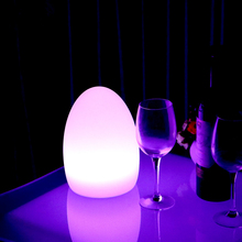 Led remote control colorful eggs rechargeable bar table lamp KTV night club light dimming color LED night light free shipping