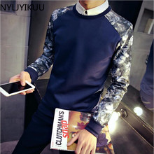 New Leisure Men's Hoodies Patchwork Colors Napping Fashion Men's Tracksuits Sweatshirts Men Coats size M-XXXL