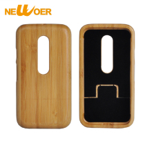 NEWOER Bamboo Case For Motorola G3 Bamboo Wooden Back Hard Cover Original Wood Cellphone Case For Moto G3(China)