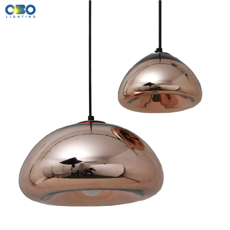 Vintage Plating Glass Shade Pendant Lamp Cord 1-1.5m Wire Modern Coffee House Indoor Pendant Light E27 110*240V  Free Shipping<br>