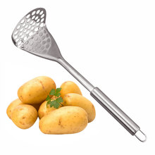 Stainless Steel Potato Mashers Ricers Creative Hand-held Potato Mashers Mashing Kitchen Cooking Gadgets Accessories Tool GF292(China)