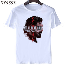 2017 Summer men New Metal Gear T Shirt Peace Walker Logo Printed Short Sleeve Metal Gear Solid T-shirts Tops Free Shipping