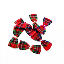 50 pcs/lot , 3''New Plaid Boutique Hair for Hair Accessories Fashion DIY Chriestmas Hairbow