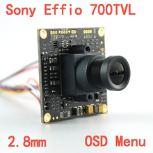 "1/3"" Sony Effio-e 4140+811 700TVL  2.8mm Lens Wide View  CCD CCTV Camera Board With OSD Menu Chipboard for Security Camera"