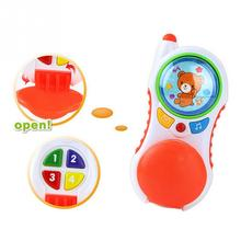Baby phone with sound and light Child music phone Learning Study Baby cell phone For Children Educational toy(China)