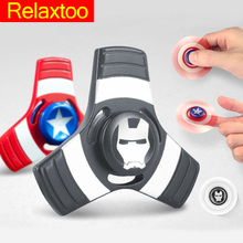 Buy Metal Hand Spinner Avengers Captain America Fidget Finger Tri Spinners Anti Stress Toys Hulk Superman Spider iron Man Boys Gifts for $3.07 in AliExpress store