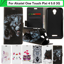 EiiMoo Wallet Case For Alcatel Pixi 4 5.0 3G OT 5010 5010D 5010X Case Flip Leather Cover For Alcatel One Touch Pixi 4 Phone Case(China)
