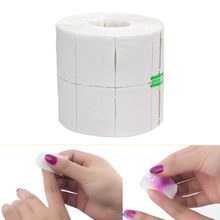 500Pcs or 300Pcs/Roll White Nail Polish Gel Remover Wipes Nail Art Tips Manicure Cleaning Wipes Cotton Lint Pads Paper(China)