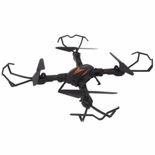 RC Quadcopter Dream Flood F12W Wifi 2.4G FPV Foldable 200W HD Camera Headless Mode - Black orange(China)