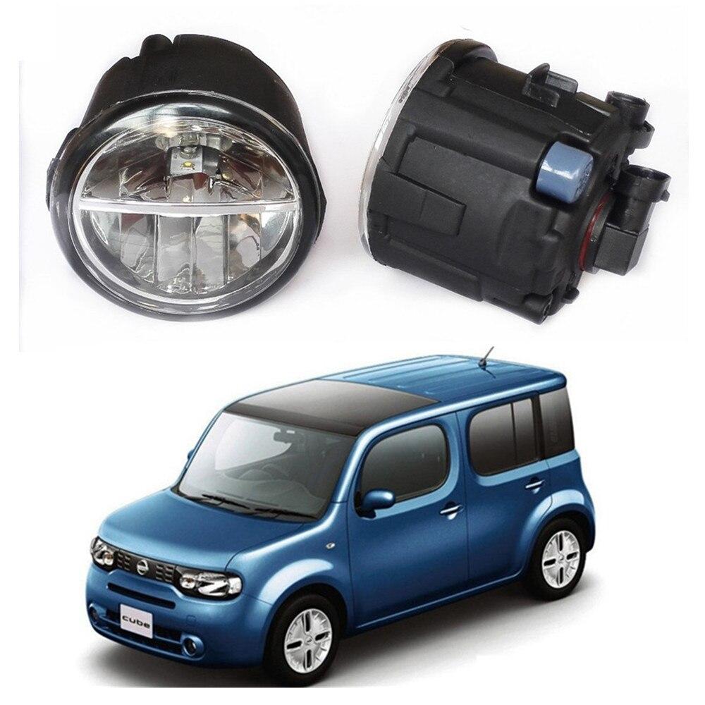 For NISSAN CUBE Z12 Hatchback 2010-2014 LED fog lights Car styling General drl led lamps 1SET<br>
