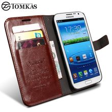 TOMKAS Case For Samsung Galaxy Note 2 Wallet Flip Cover With Kickstand PU Leather Phone Case For Samsung Galaxy Note 2 II N7100