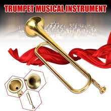 Brass-Instrument Bugle Musical Student Gold-Iron School-Drummers Military Hot Kids