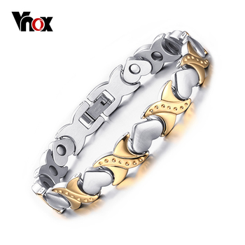 Venta caliente cuidado saludable pulseras y brazaletes para las mujeres joyería energía magnética pulsera para las mujeres cadena de la mano del corazón envío gratis