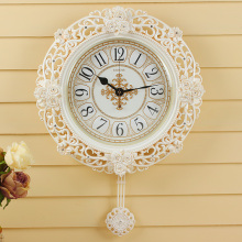 LISHENG Pendulum Wall Clock living room modern mute Watch European style creative Retro Clocks