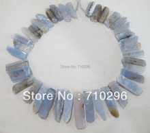 "Blue Chalcedony blue lace agat e natural Stone Loose stone Beads Fit necklace diy 3str/lot 16""/string"