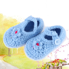 New Arrival Handmade Newborn Baby Boys Girls Crochet Knit Toddler Shoes Yarn Handmade First Walkers FCI#(China)