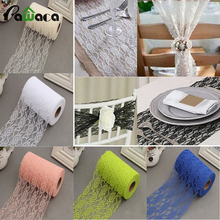 22M/Roll Vintage Lace Netting Fabric Tulle Roll For Tutu Skirt Table Runner Chair Sash DIY Wedding Party Arts Christmas Decor(China)
