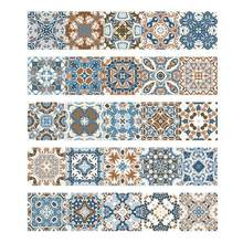 Etonnant Vintage Moroccan Style Tiles Stickers PVC Waterproof Self Adhesive Wall  Stickers Furniture Bathroom DIY Removable Tile