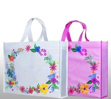 46*10*35cm 10pcs Flower non woven bag shopping bag for promotion/Gift/shoes/Chrismas/supermarket non woven bags with handles