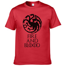 Buy 2017 New Listing Game Thrones T-shirt fire blood Tee House Targaryen shirt Fitness Casual Streetwear Cotton T shirt #254 for $5.34 in AliExpress store