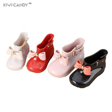 girls rain Boot summer shoes cute Bow candy smell baby todder little adorable soft fashion boots non slip water shoes Sapato