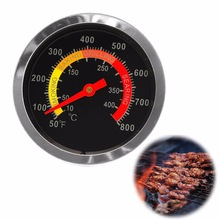 Outdoor Barbecue BBQ Stainless Steel Display Thermometer Roast Barbecue BBQ Pit Smoker Grill Temp Gauge Temperature ControllC42