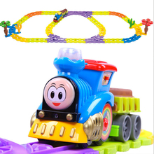 D1019 Free shipping Thomas train track electric rail car toys educational toys for children Music package Medium(China)