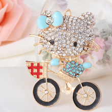 Min.$15 (Mixed Order) Cell Phone Case DIY Charms Alloy Hello Kitty bike Cat Decoration