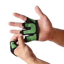 Crossfit Anti-skid Weight lifting Gloves Breathable Half Finger Hand Grippers Gym Weightlifting Fitness Barbell Palm Protector(China)