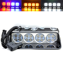 12v 48W Led driving Emergency light Car truck warning strobe flash flasher Caution lamp Hazard beacon flashing daytime fog light(China)