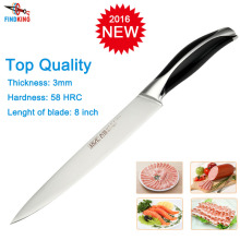 2015 Brand new stainless steel 7Cr17 as 440C top quality 8'' inch Fileting knife fish knife kitchen chef knife Slicing knife