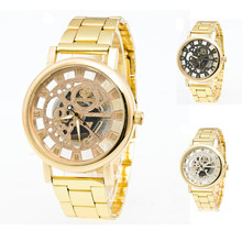 relojes mujer 2016 Luxury Brand Women Watches Gold Boys Girls Stainless Steel Pointer Quartz watch Lover Wristwatch montres
