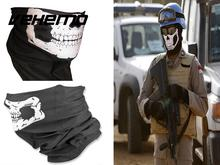 Vehemo HOT Cool Tubular Skull Ghosts Ghost Mask Bandana Motor bike Sport Scarf Neck Warmer Winter Halloween For Motorcycle(China)