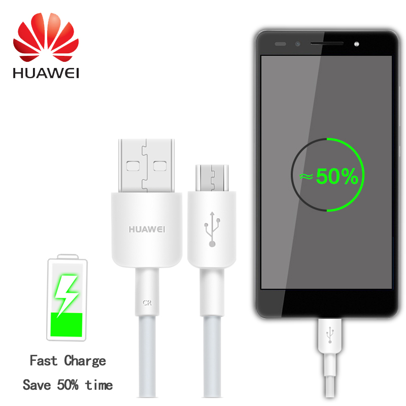Original Huawei Fast Charging Mini Usb Cable Micro Usb Cable 2A 1M Flex Cable For Huawei Y5 ii honor 5c 6x P8 Lite Mate8(China (Mainland))
