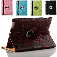 Design 360 Rotating Series Grape Pattern PU Leather mobile phone bag case for ipad mini3 mini2 mini  Smart Cover Stand Flip