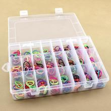 HOT 24 Slot Jewelry Packaging BOX Clear Best Organizer Storage Beads Box Plastic Jewelry Adjustable Tool Bins(China)