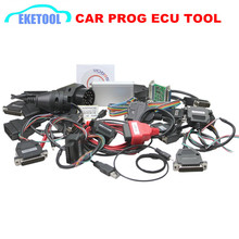Professional Newest CAR PROG V9.31 Full Set 21 Adapter Auto ECU Chip Tuning Tool Universal ECU Repair Tool Carprog FREE SHIPPING