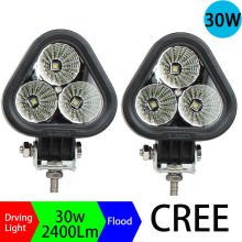 A Pair 30W LED Work Light flood Beam Led Forklift lamp Off road Light for Driving Lamp Car SUV UTV Truck LED work light Off-road