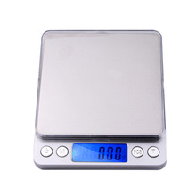Mini Jewelry Scale Electronic Balance Weight Scale 2000g 0.1g Digital Precision Pocket  Scale Stainless Steel Balance Platform