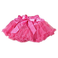 New Fashion Girls Tutu Skirts Baby Ballerina Skirt Children Chiffon Fluffy Pettiskirts Kids Hallowmas Casual Candy Color Skirt