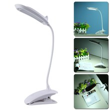 Desk Lamp USB Rechargeable Touch Switch LED Clip-On Table Reading Light DC 5V 500mA Night Light(China)