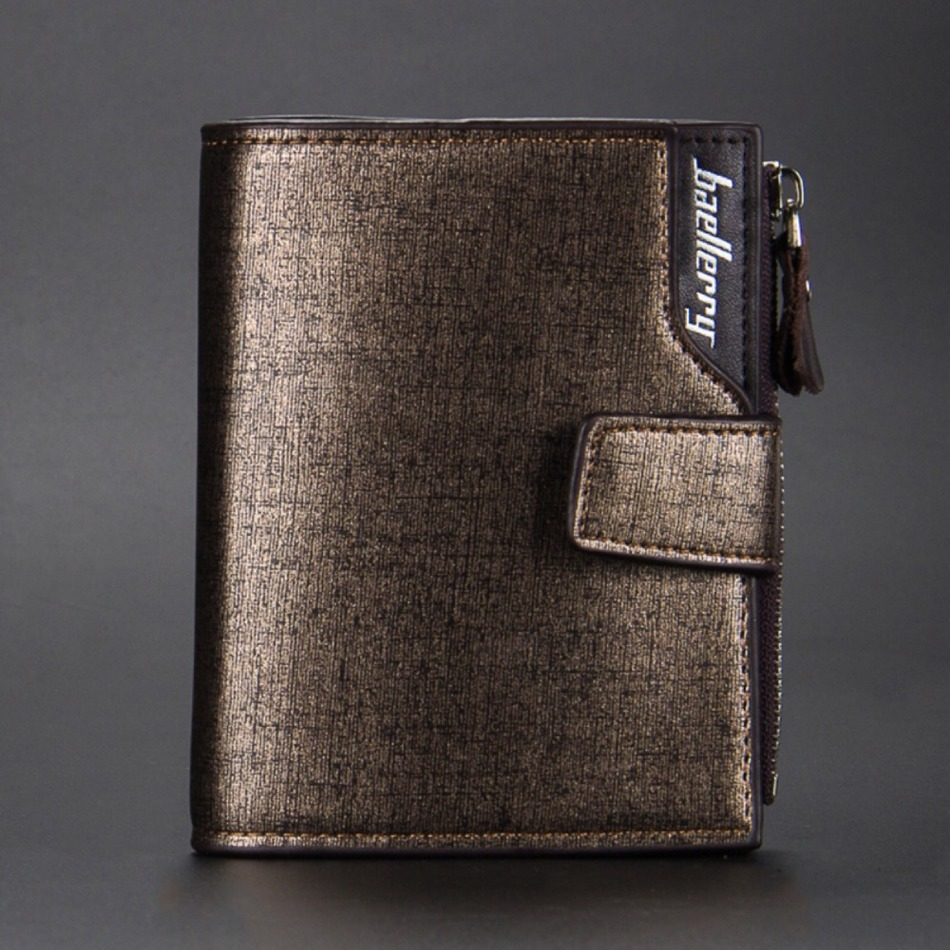 Fashion New Beallerry Mens Wallets Short Design Casual Purse Clutch Bag Brand PU Leather Rough Texture Hasp Card Holder Wallet<br><br>Aliexpress