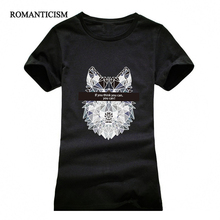Buy T shirt women Fashion summer 3D wolf print short sleeve t-shirts comfortable brand cotton women t shirt tops for $4.36 in AliExpress store