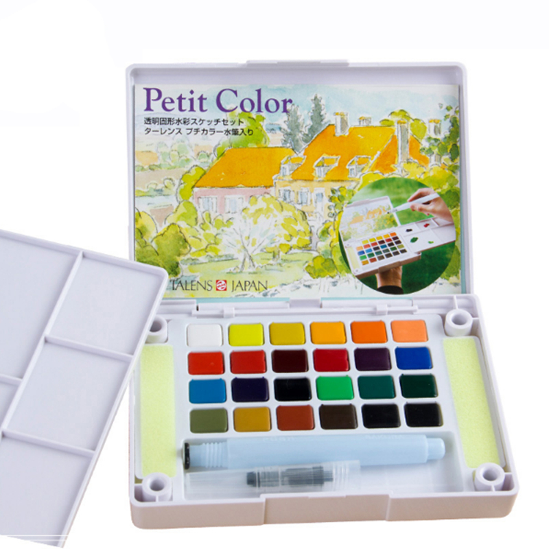 18/24/30 colours watercolour Paint Box, Solid Petit Watercolor Painting Outdoor, Portable Sketch Color Art Tools,Supplies<br><br>Aliexpress