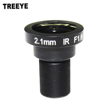 "1/2"" Fisheye Lens 2.1mm CCTV Camera Lens HD 5.0Megapixel F1.6 M12 Mount Fixed Iris Wide Viewing Angle 186Degree(China)"