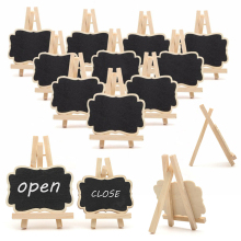 10Pcs Mini Wooden Blackboard Message Chalkboard Table Number Wedding Party Decoration 2 Sizes(China)