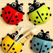 New Arrival Lovely Ladybug Cartoon Suction Bathroom Accessories Products Wall Mounted Toothbrush Holder Suction Cup 1 Pcs 30UY
